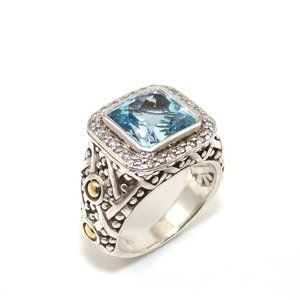 Hardy Sterling Silver 18K Gold Batu Sari Ring 6.25